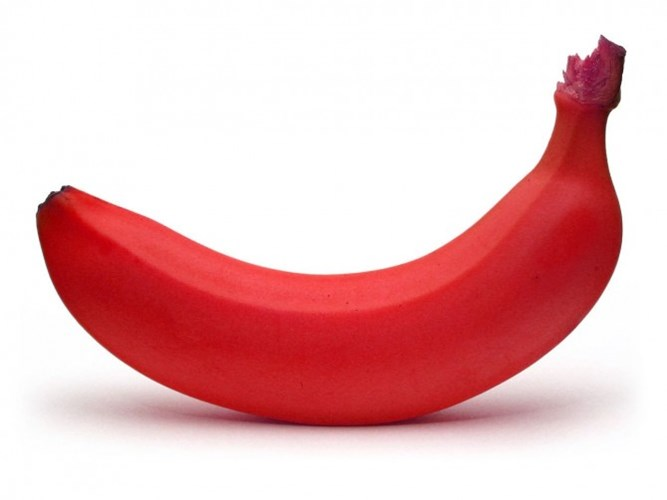 Trái chuối đỏ