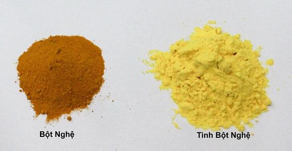 Cách phân biệt tinh bột nghệ với bột nghệ