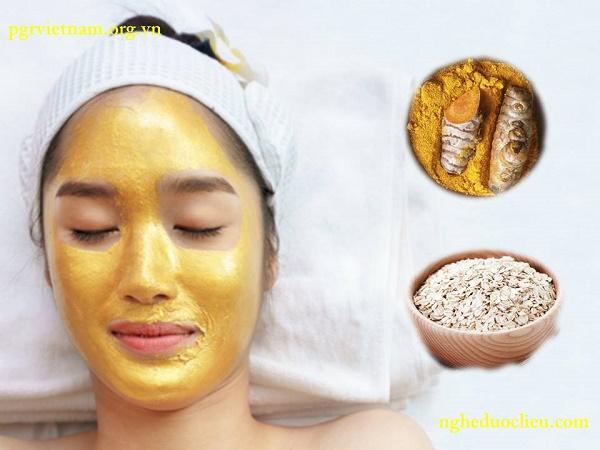 Cách làm mặt nạ tinh bột nghệ đắp mặt dưỡng trắng da đẹp hơn tắm trắng