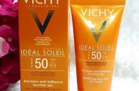 Review kem chống nắng Vichy Ideal Soleil SPF 50 Mattifying Face Fluid Dry Touch
