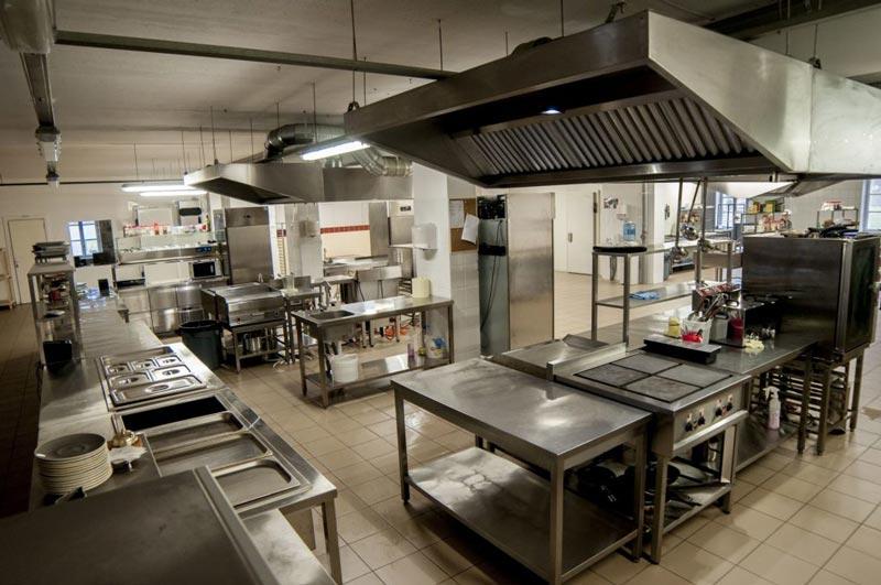 phân chia khu vực bếp