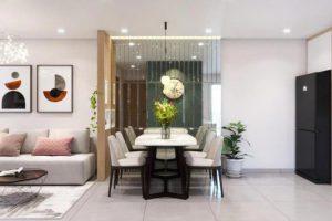 Phân chia không gian hoàn hảo nhờ những vật dụng nội thất kế nối tinh tế.