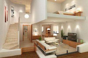 Thiết kế nội thất với các hình khối giúp cho không gian sống trở nên độc đáo và bắt mắt hơn.
