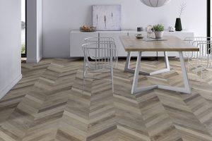 Loại sàn gỗ công nghiệp được sử dụng khá phổ biến bởi giá thành tốt, chất lượng khá phù hợp với nhiều không gian.