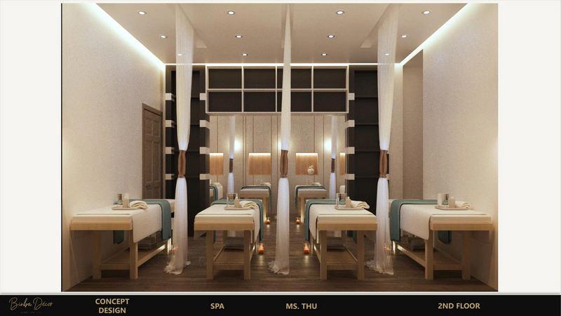 thiết kế nội thất spa sang trọng
