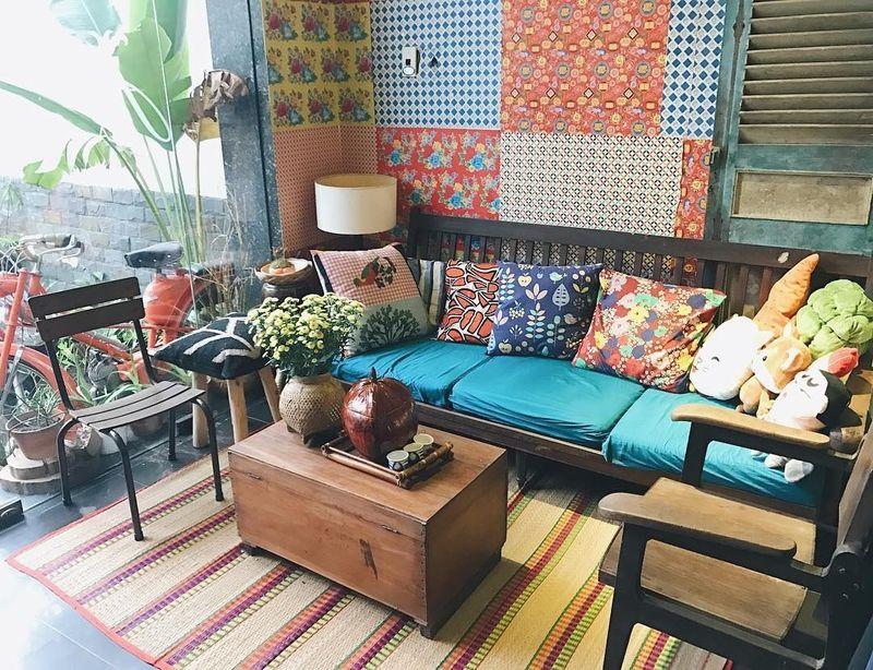 Thiết kế nội thất Homestay với nhiều gam màu tươi sáng tạo cả giác thoải mãi, thư giãn cho khách hàng.
