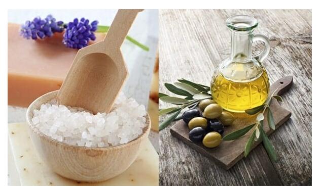 Tẩy da chết môi bằng dầu oliu và đường hiệu quả